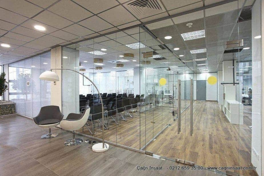 office glass partition systems