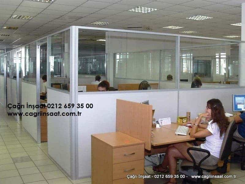 office glass + wooden seperators systems
