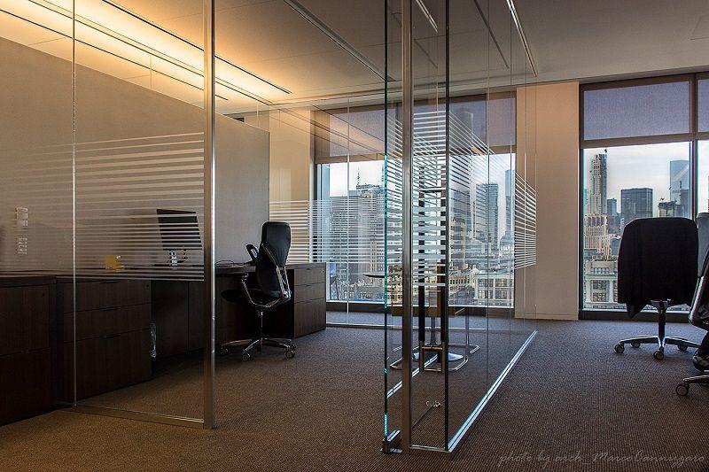 Single Office Glass Pane