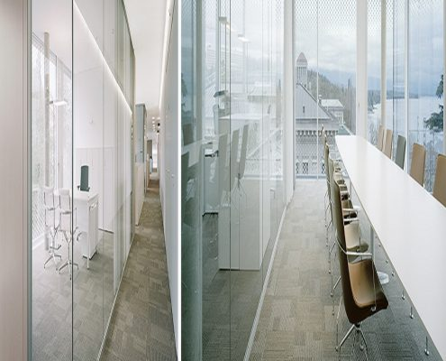 F1100 Glass Partition Wall Profiles Man Office