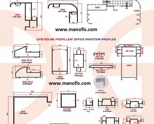 F1110 office partition profiles man office, door door profile