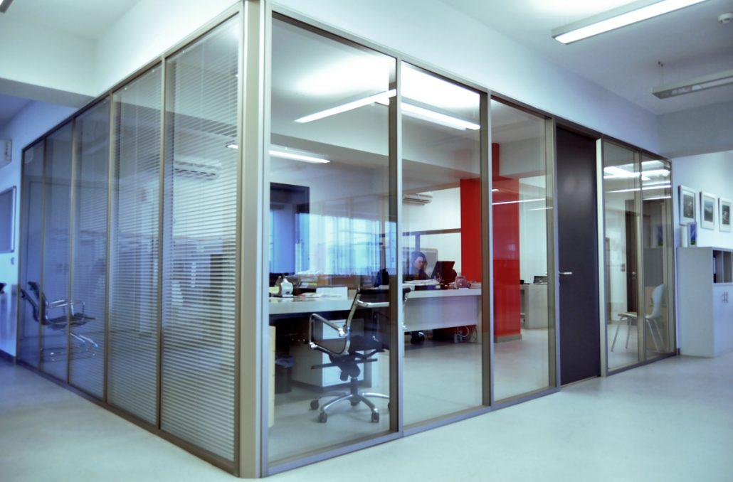 fence glazed glass partition