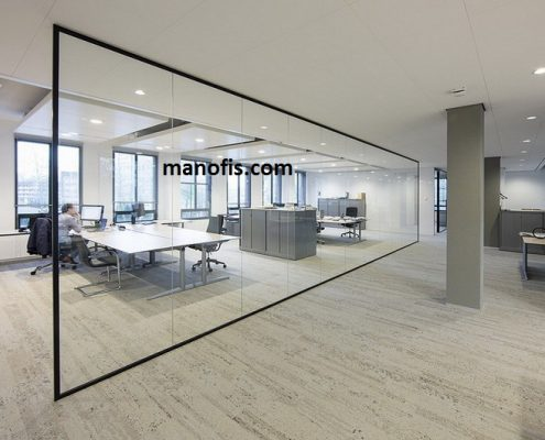 man office - glass partition