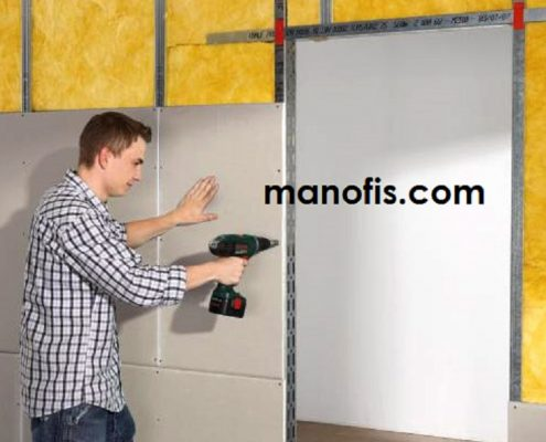 drywall partition wall mount