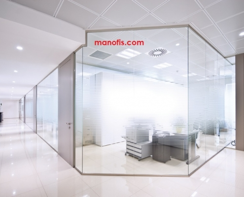 glass partition prices man office